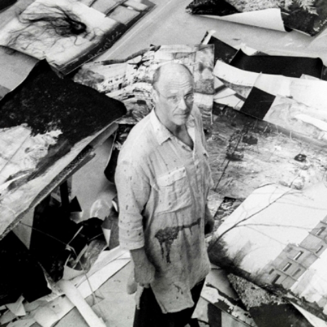 Anselm Kiefer in his Studio by Renate Graf.