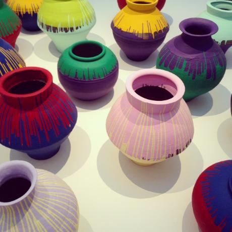 Coloured Vases