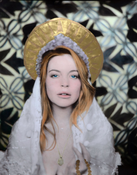 Lindsay -16 x 20 Unique Hand coloured print / 24ct Gold / 2015