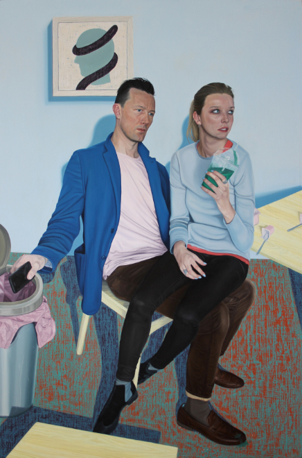 A Couple , 31.5 x 47.5 inches, oil on linen