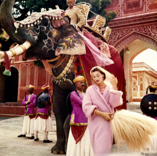 Anna Gunning in Jaipur by Norman Parkinson