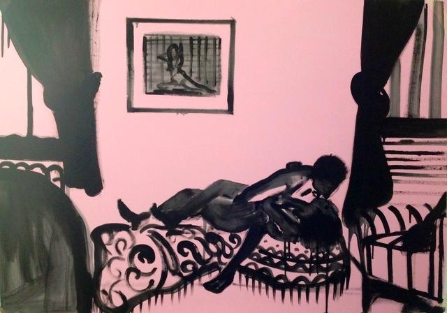 Room (2016) oil on paper Ilona Szalay - Arusha Gallery