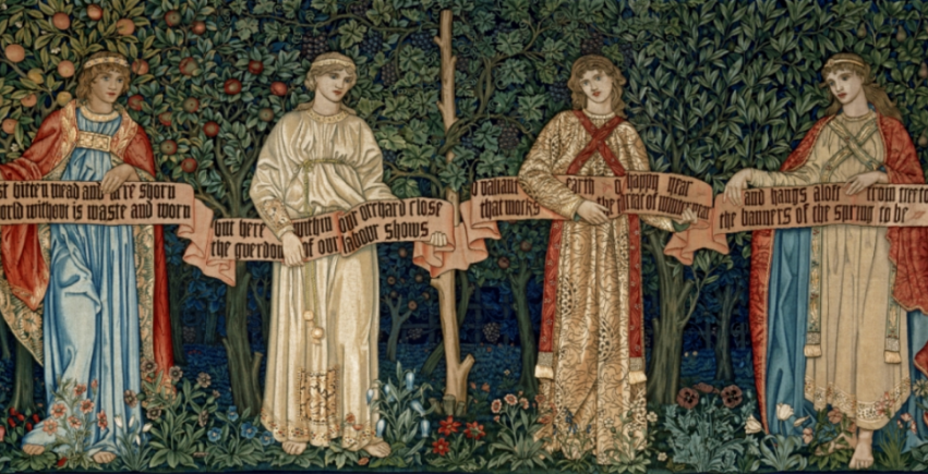 The Orchard  by William Morris, 1890.