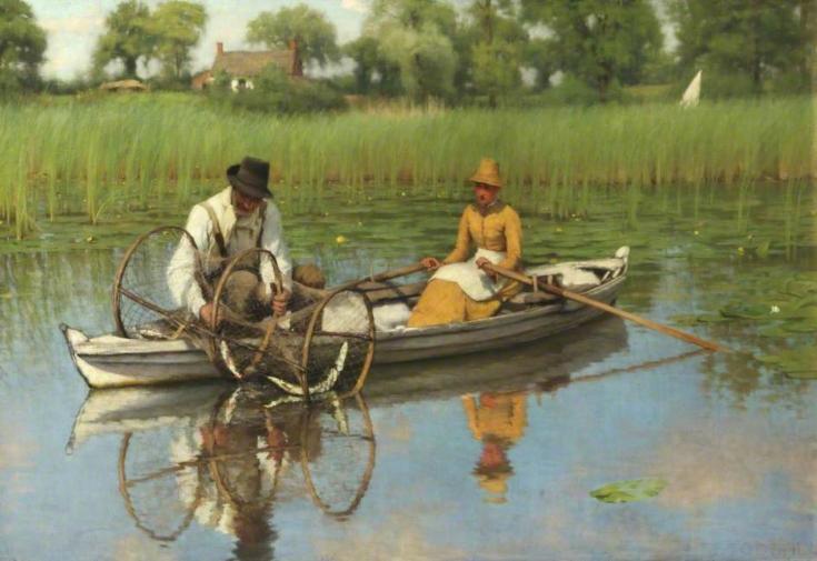 Thomas Goodall,  The Bow-Net,  1886