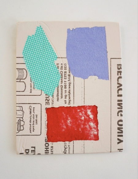 Domestic Bliss Recycled Fragment (Green, Red, Purple)