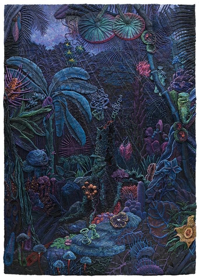 Henry Hudson, 00:00 - 02:00, Plasticine on aluminium board, 210 x 150 cm, Executed in 2016
