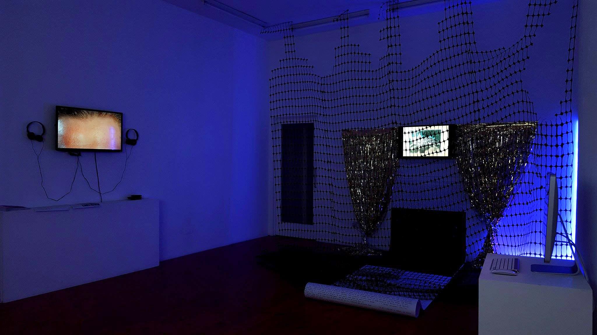 """Wandering_WILDING.Blackness on the Internet"" (2016) Exhibition view. Courtesy Hannah Black, Evan Ifekoya + IMT Gallery, London 01"