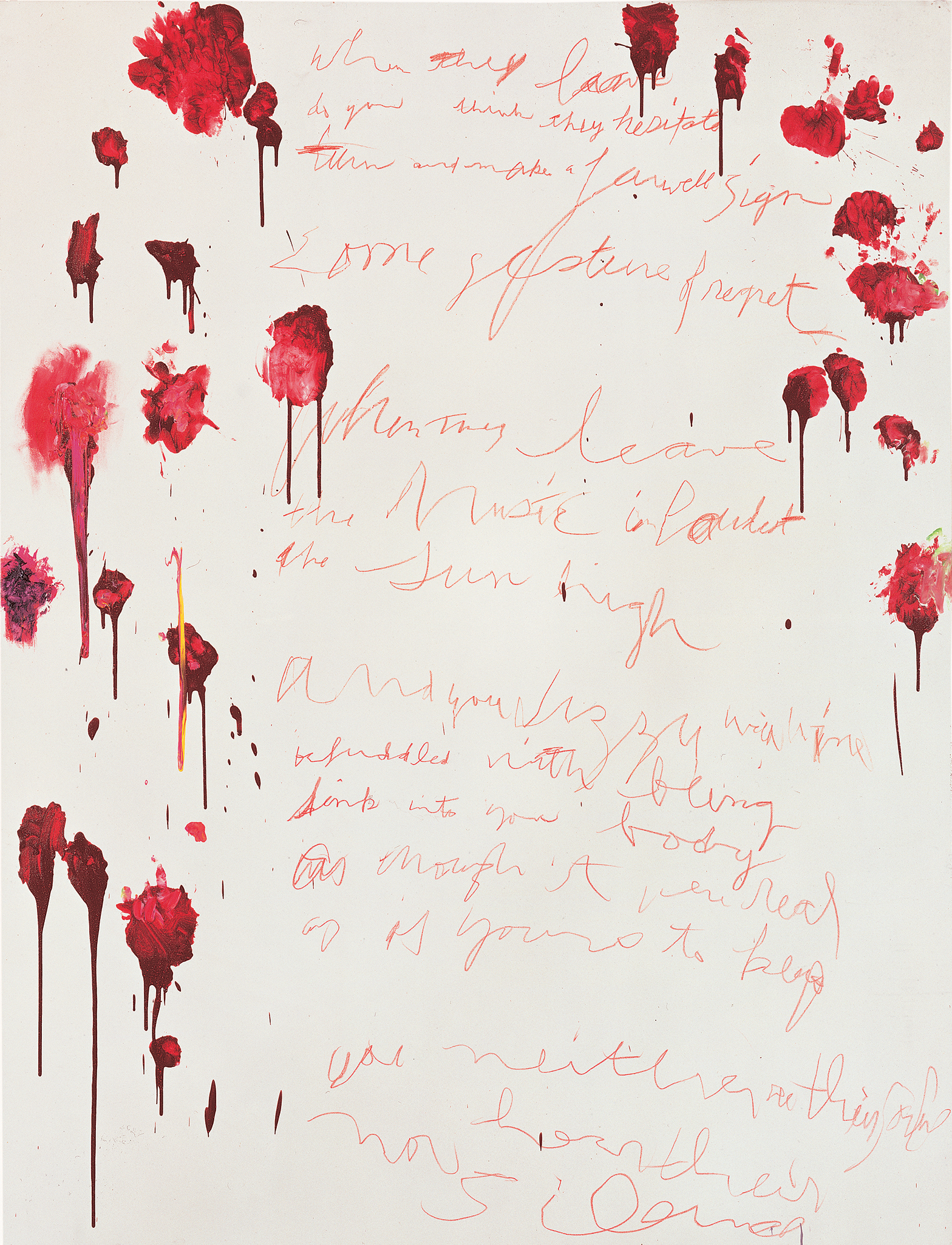 Coronation of Sesostris, Part VI  (2000), by Cy Twombly. Acrylic. Photograph: © Cy Twombly Foundation