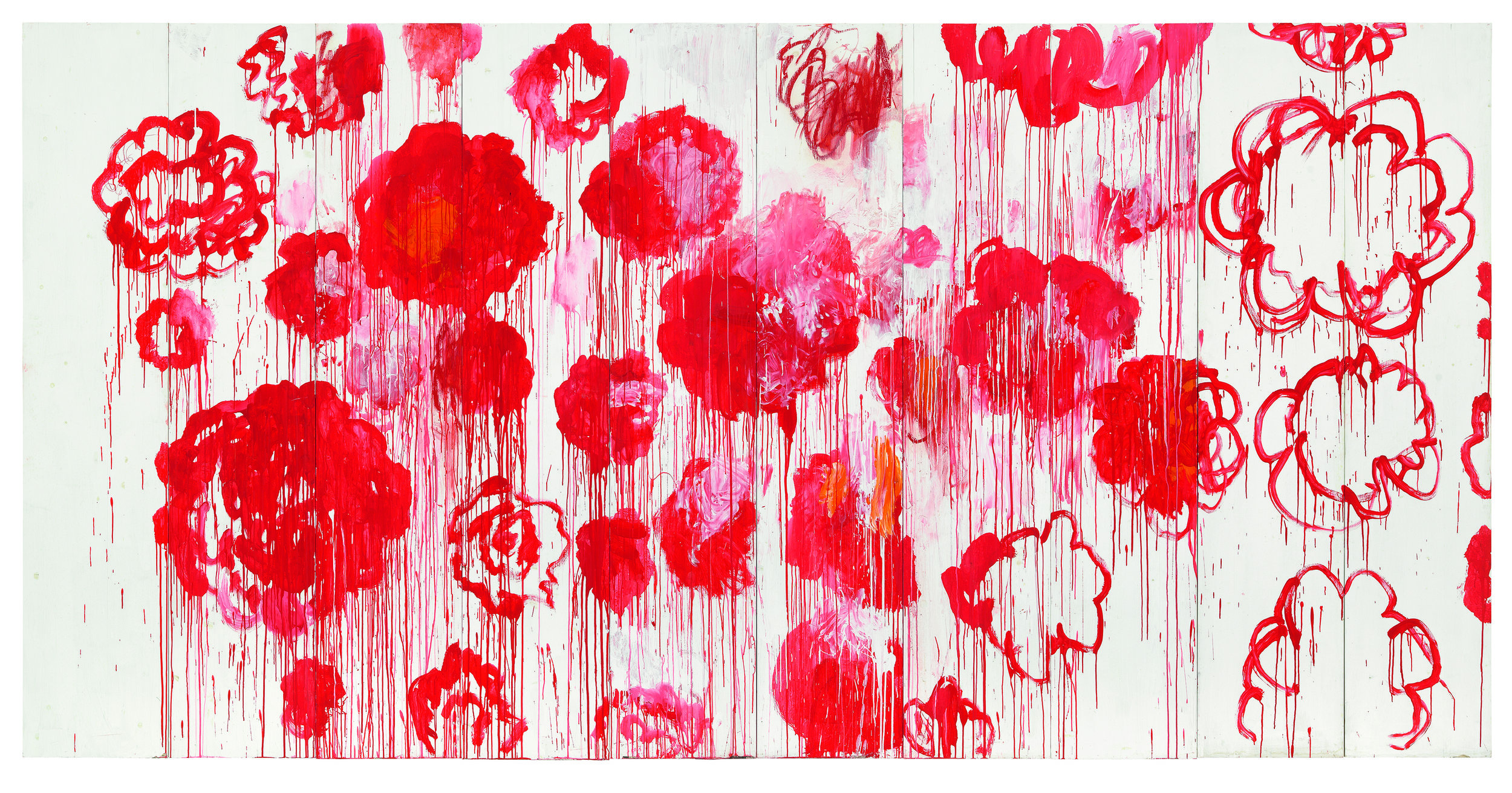 Blooming, 2001-2008, by Cy Twombly.  Photograph: © Cy Twombly Foundation