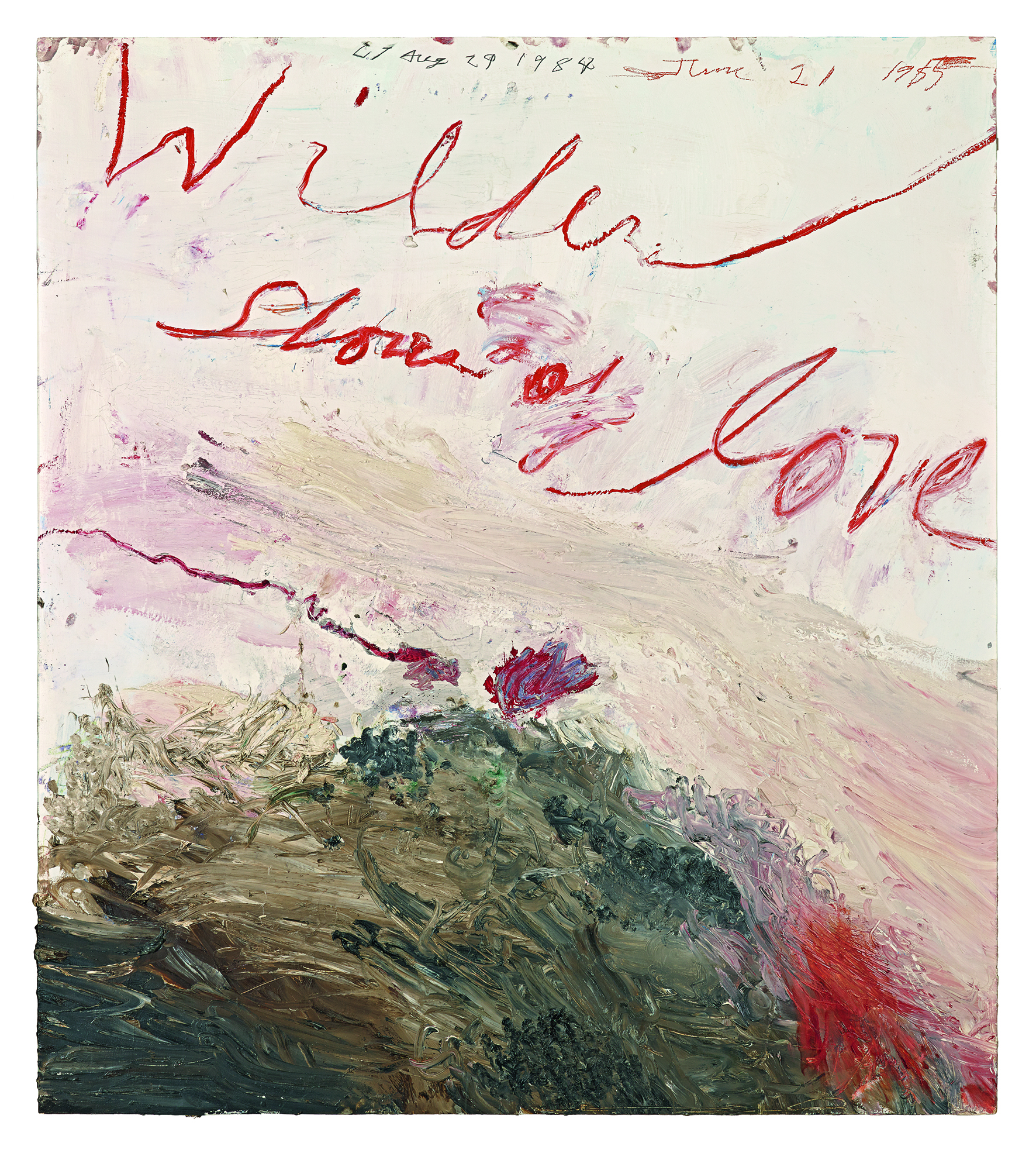 Wilder Shores of Love , 1985 Photograph: © Cy Twombly Foundation