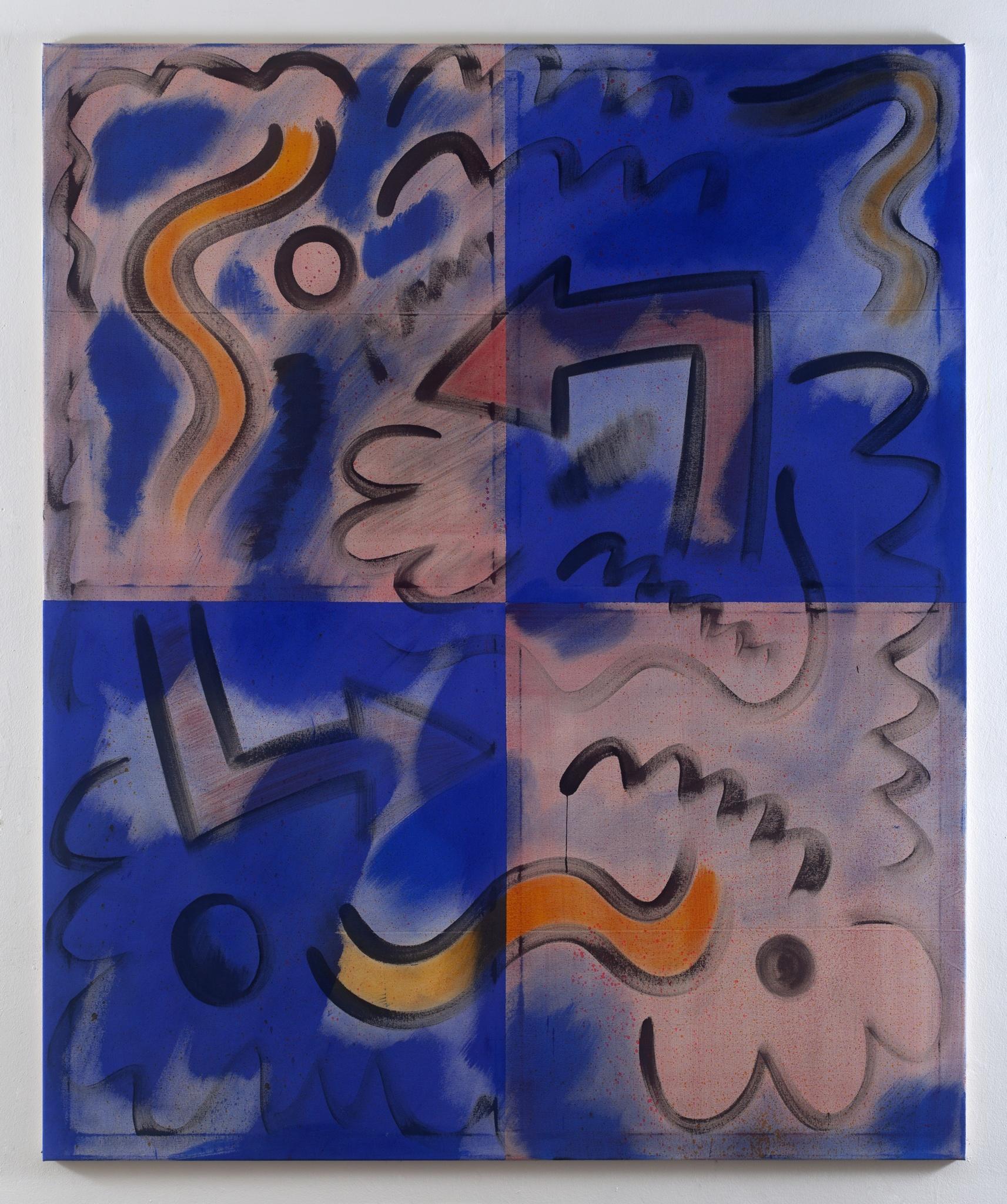 David Krňanský , BHG 4, 2017, acrylic on canvas, 180 x 145 cm, 70 7/8 x 57 1/8 in. Taken by Nicky Sims.