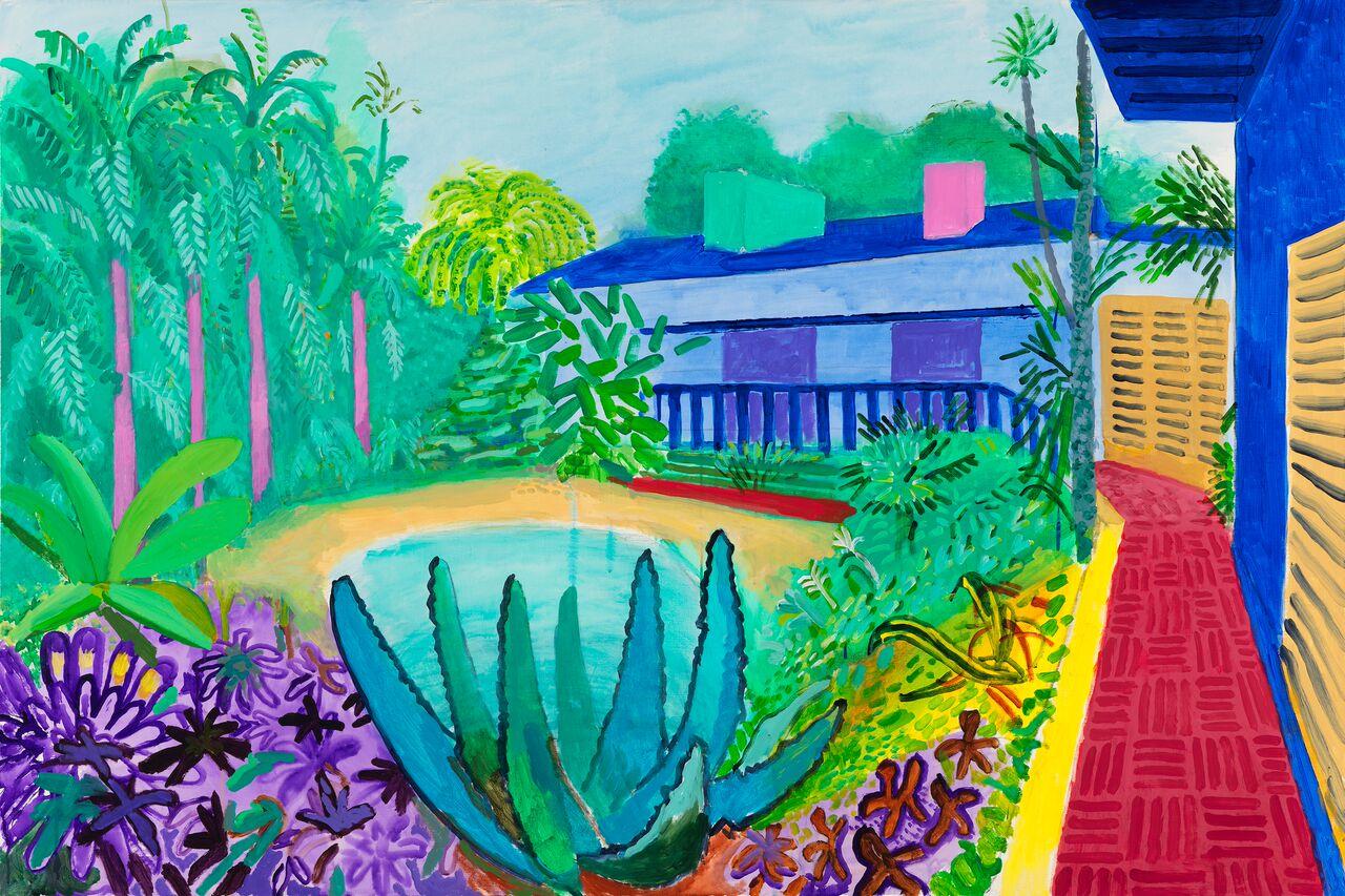 Garden 2015. Acrylic paint on canvas 1219 x 1828 mm. Collection of the artist © David Hockney Photo Credit: Richard Schmidt