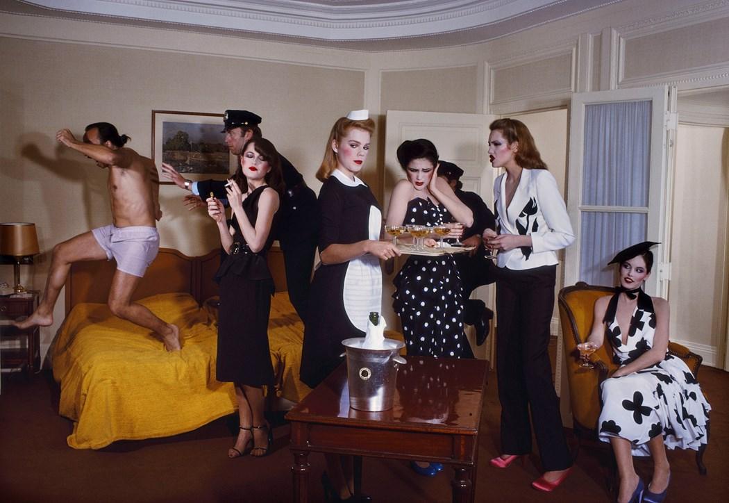 Guy Bourdin, Paris Vogue 1979,, Chloé spring-summer 1979 collection ©The Guy Bourdin Estate, 2017 / Courtesy A + C