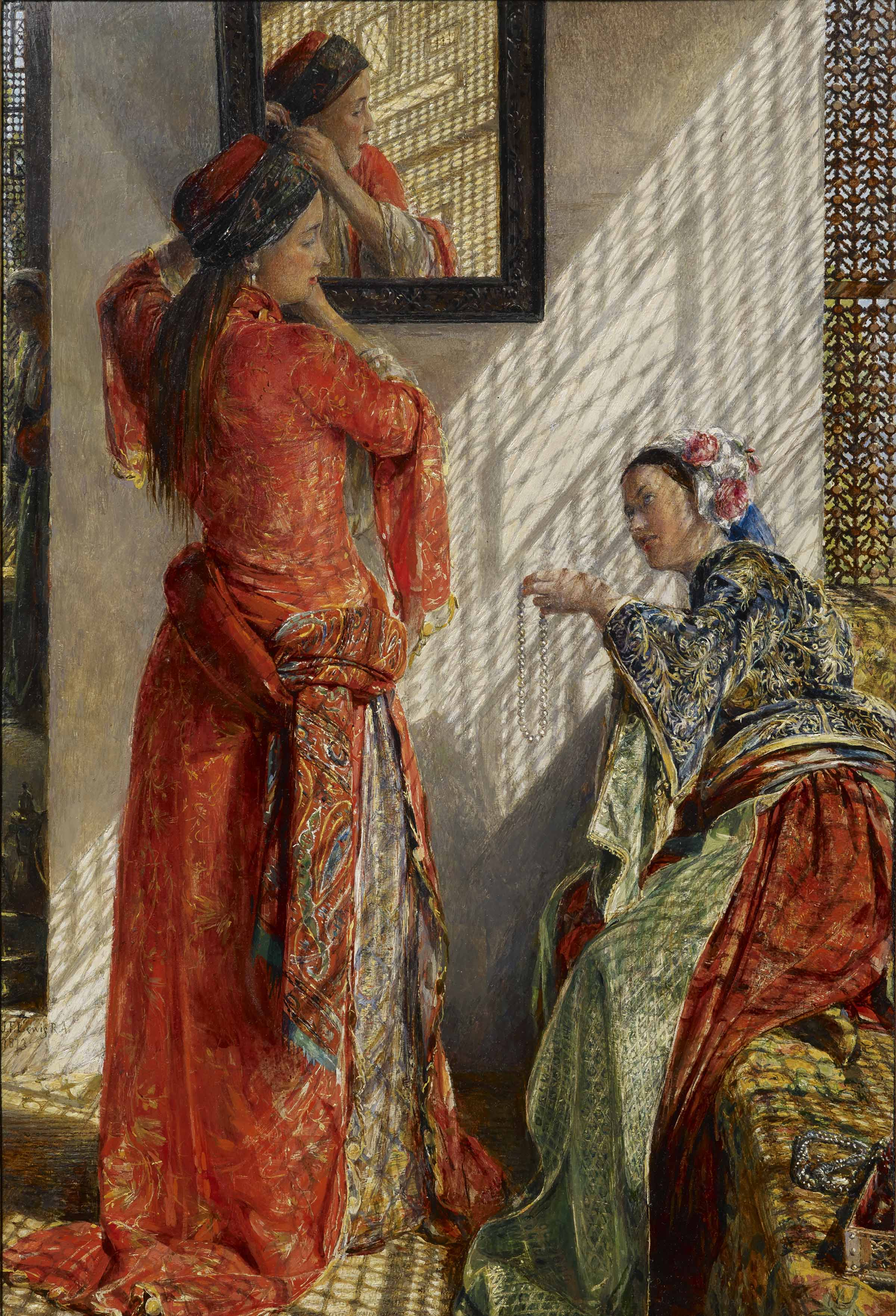 John Frederick Lewis, Indoor Gossip, Cairo (1873), courtesy of The Whitworth