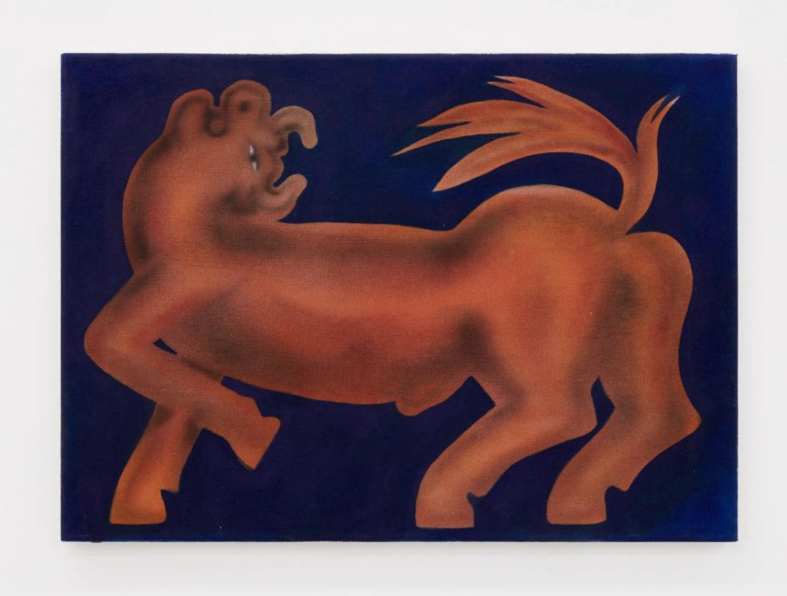 George Rouy, Bull  (2017), acrylic on canvas, 56 x 46cm
