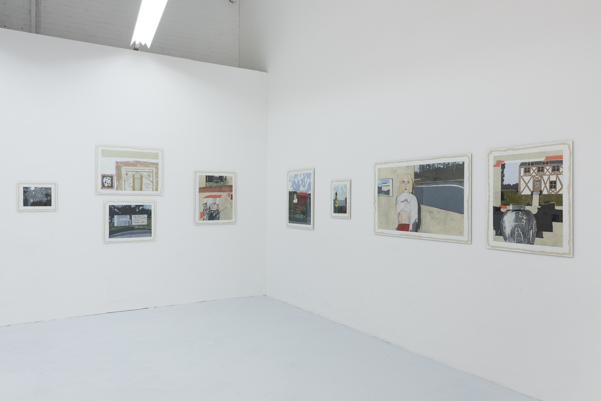 Morning Defeats  - Marie Jacotey, installation view, 2017, Hannah Barry Gallery