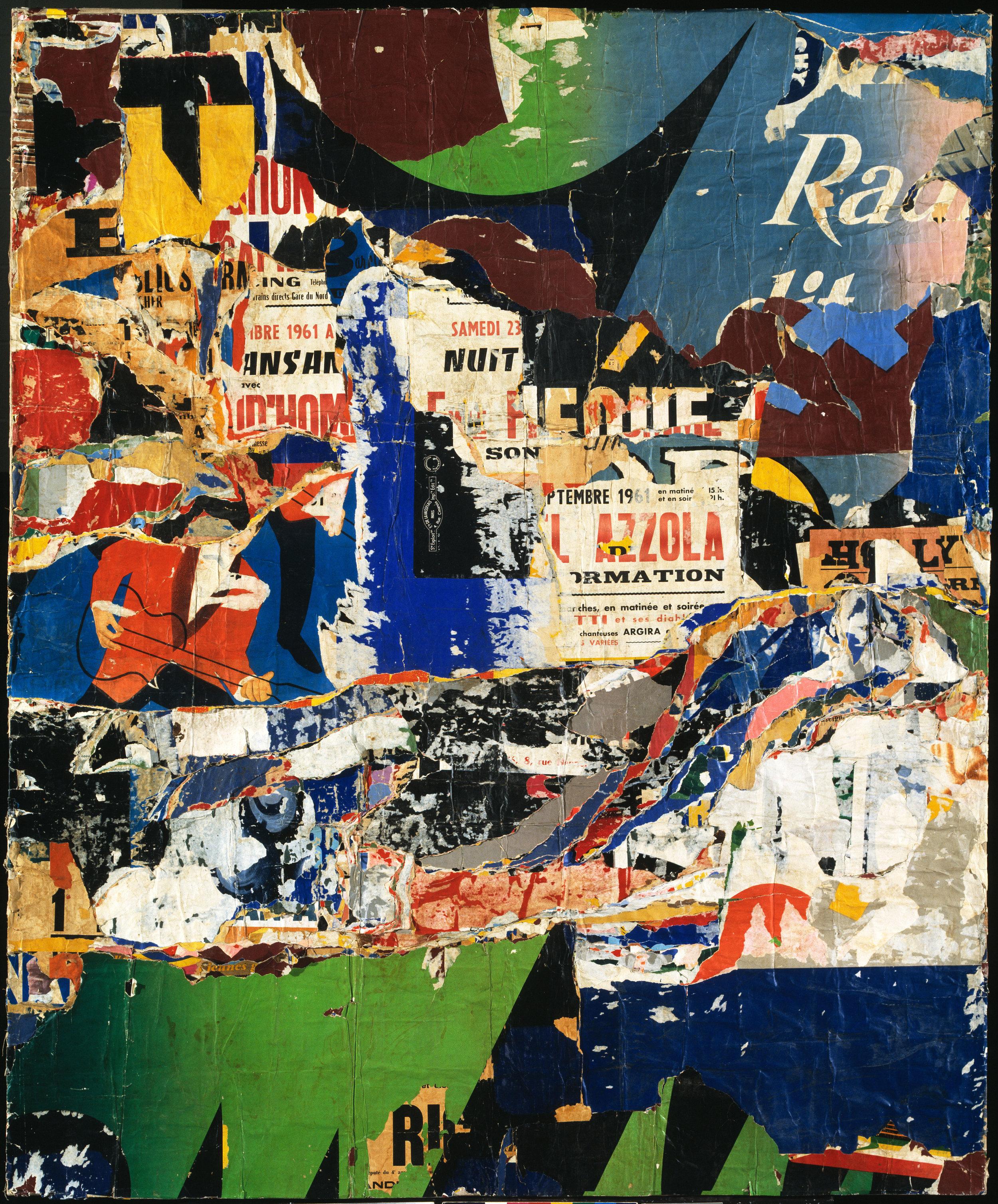 Jacques Mahé de la Villeglé,  Jazzmen (1961) Tate, Presented by the Friends of the Tate Gallery 2000 (T07619)