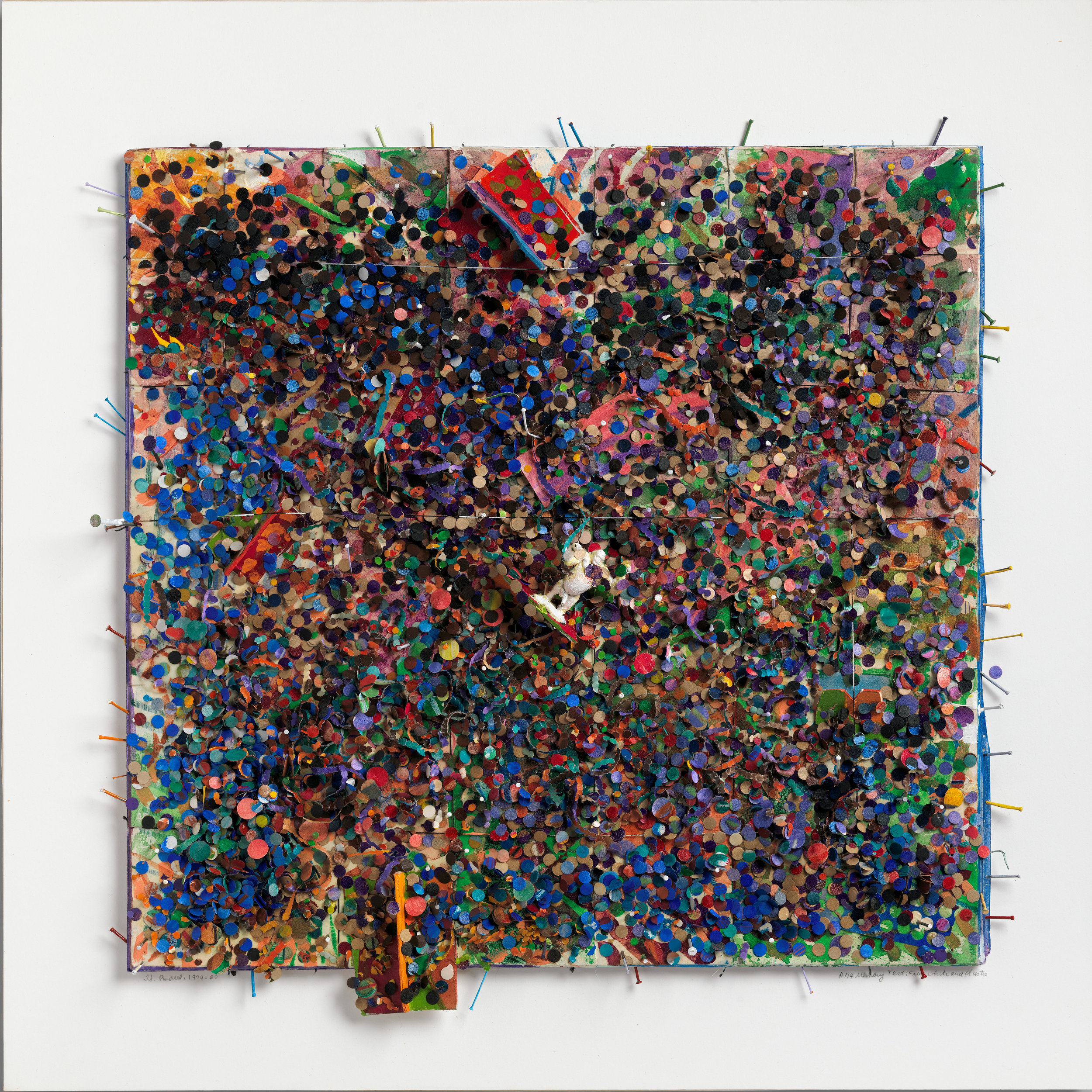 Howardena Pindell,  Memory Test: Free, White & Plastic (#114), (1979–80)  © Howardena Pindell Courtesy The Metropolitan Museum of Art, photo by Hyla Skopitz