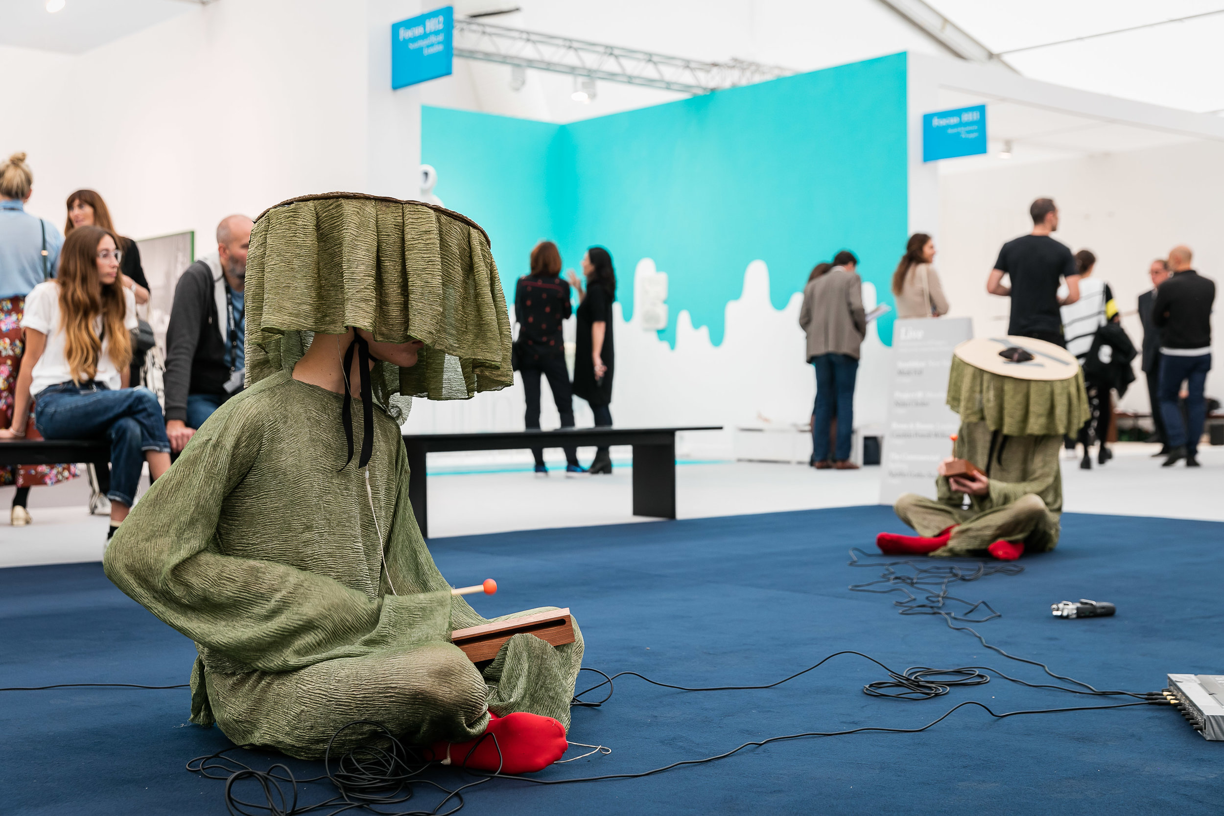 The Live Section at Frieze London.Photo courtesy of Mark Blower/Frieze.
