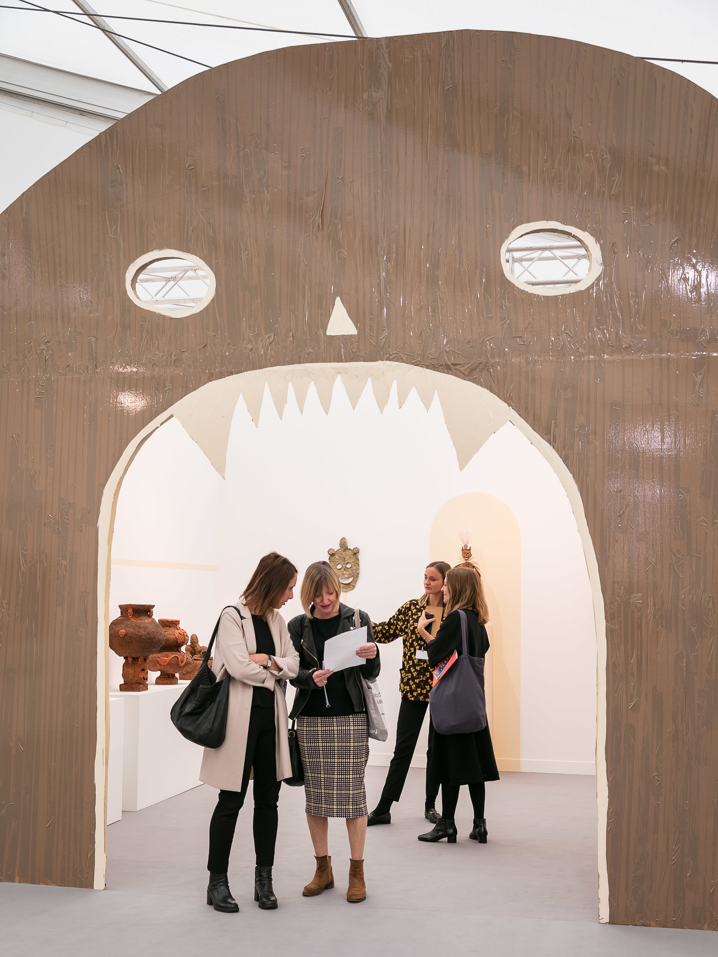 Emalin gallery, part of the Focus Section at Frieze.Photo courtesy of Mark Blower/Frieze.