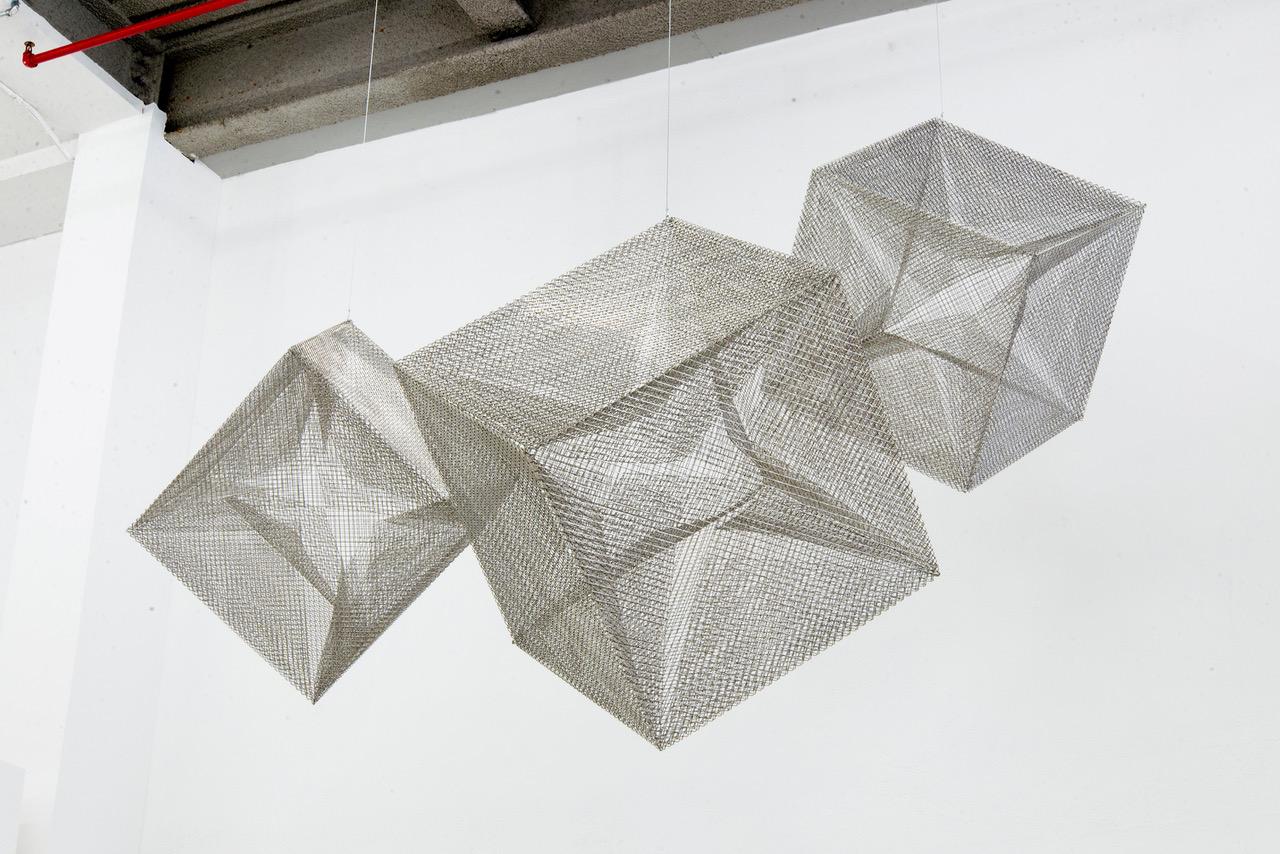 Cube 1, 2 3 (1984). ©2017 Lydia Okumura. Photo courtesy of BROADWAY 1602 HARLEM, New York.
