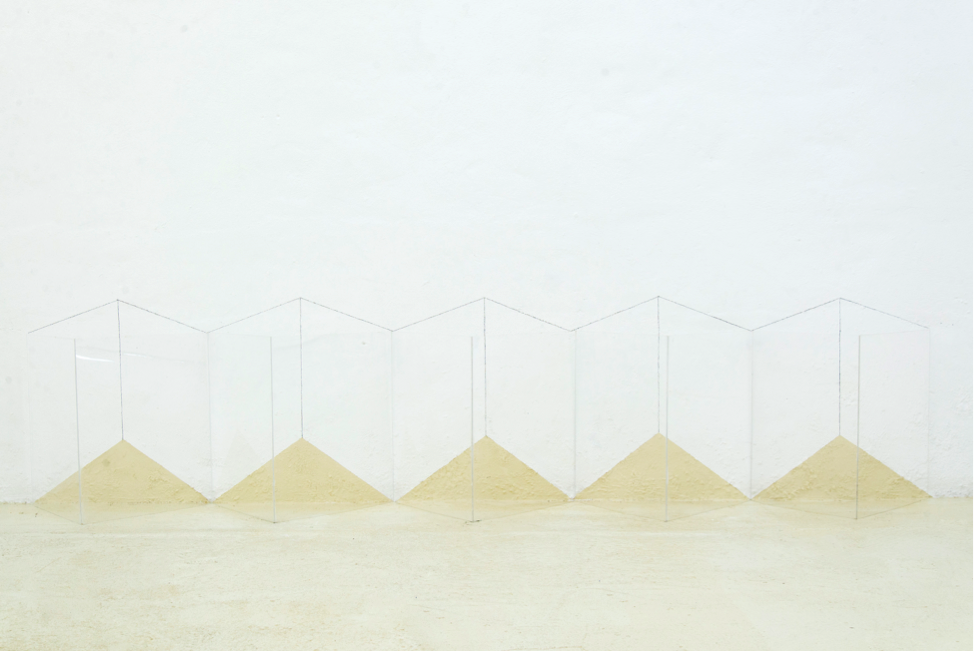Five Transparent Structures  (2017). ©2017 Lydia Okumura. Photo courtesy of BROADWAY 1602 HARLEM, New York.