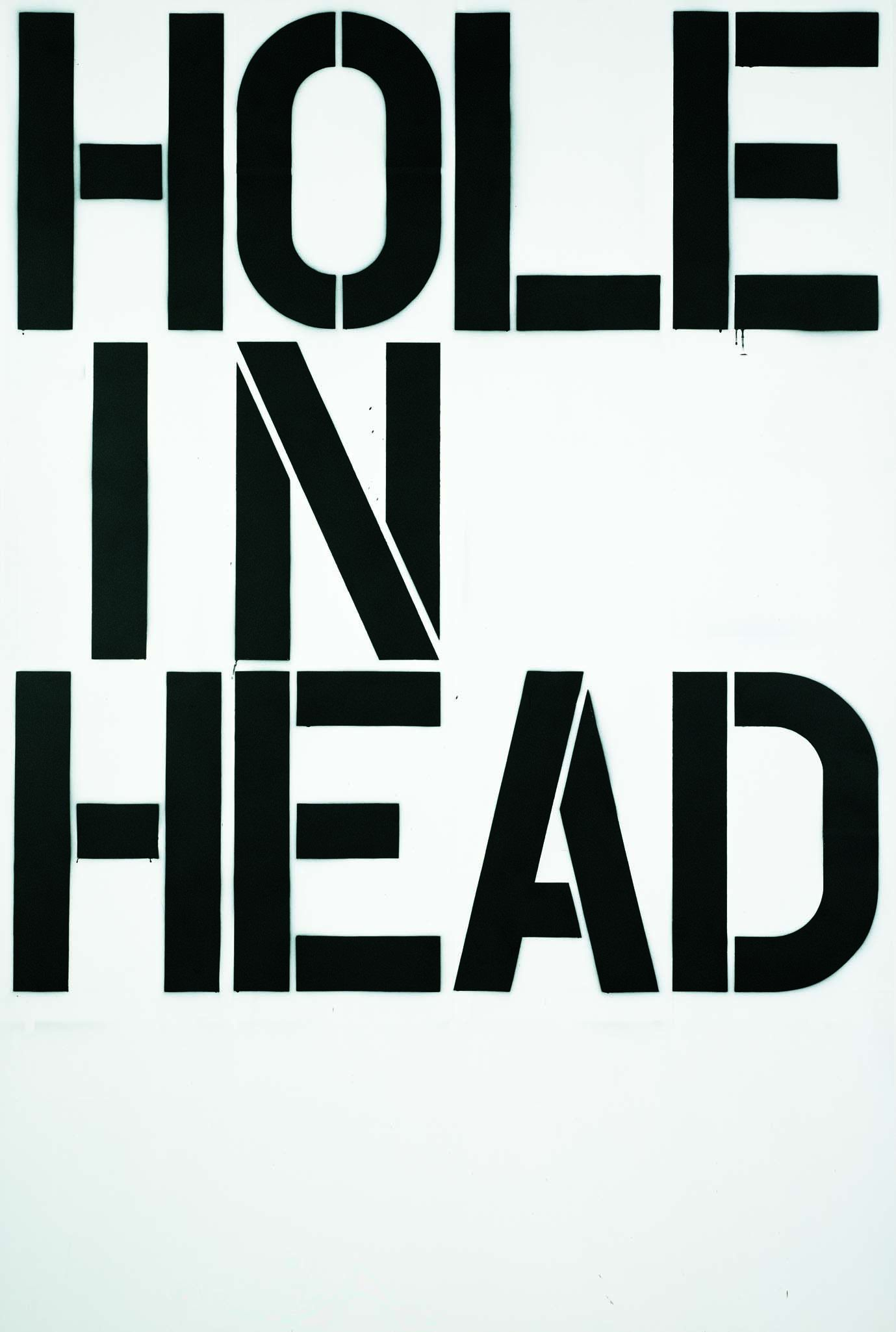Christopher Wool,  Head  (1992), enamel on aluminium, 274 x 183 cm (107.8 x 72 in.) Courtesy Astrup Fearnley Collection, Oslo, Norway