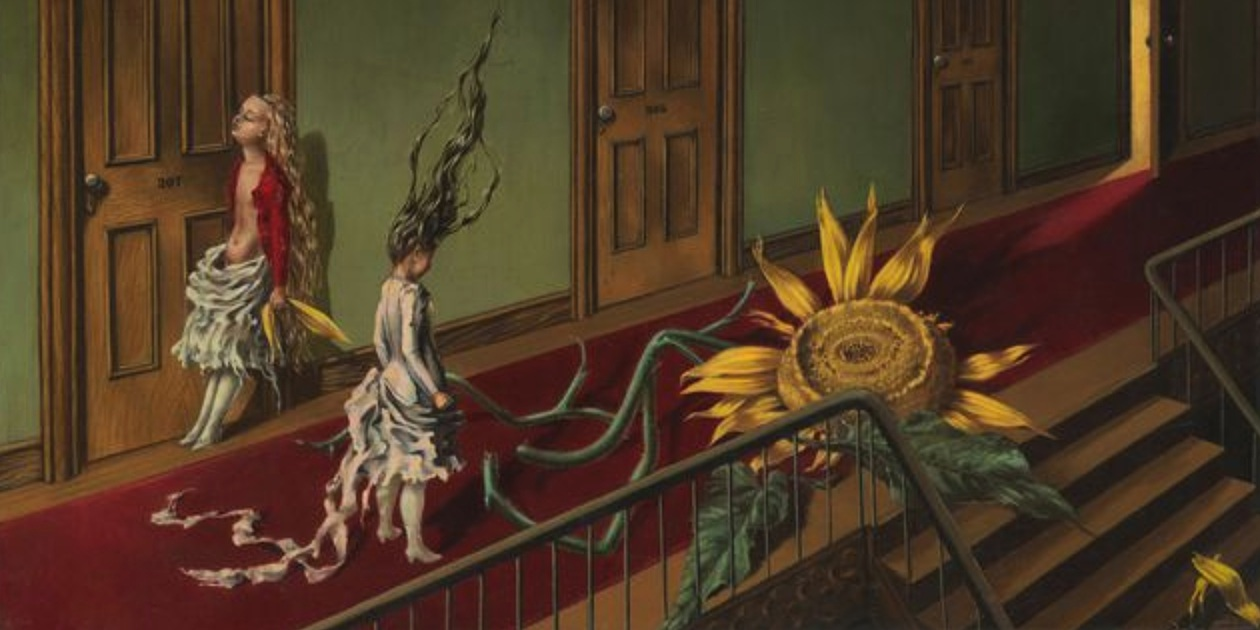 Dorothea Tanning  Eine Kleine Nachtmusik 1943,  courtesy of Tate Modern, London.