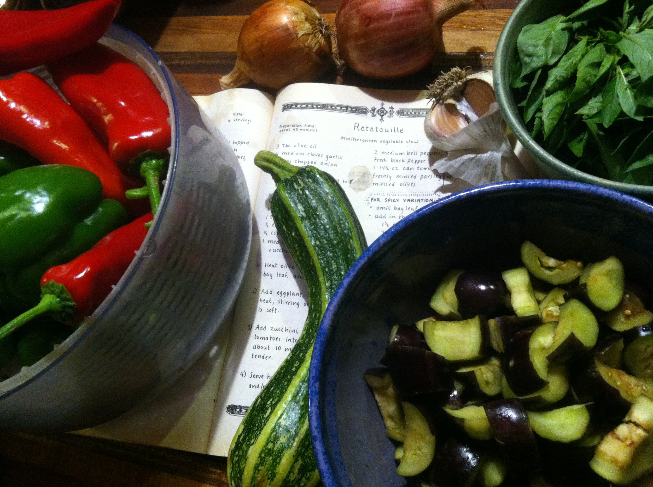 I use the recipe from Moosewood cookbook, choosing the spicy version!