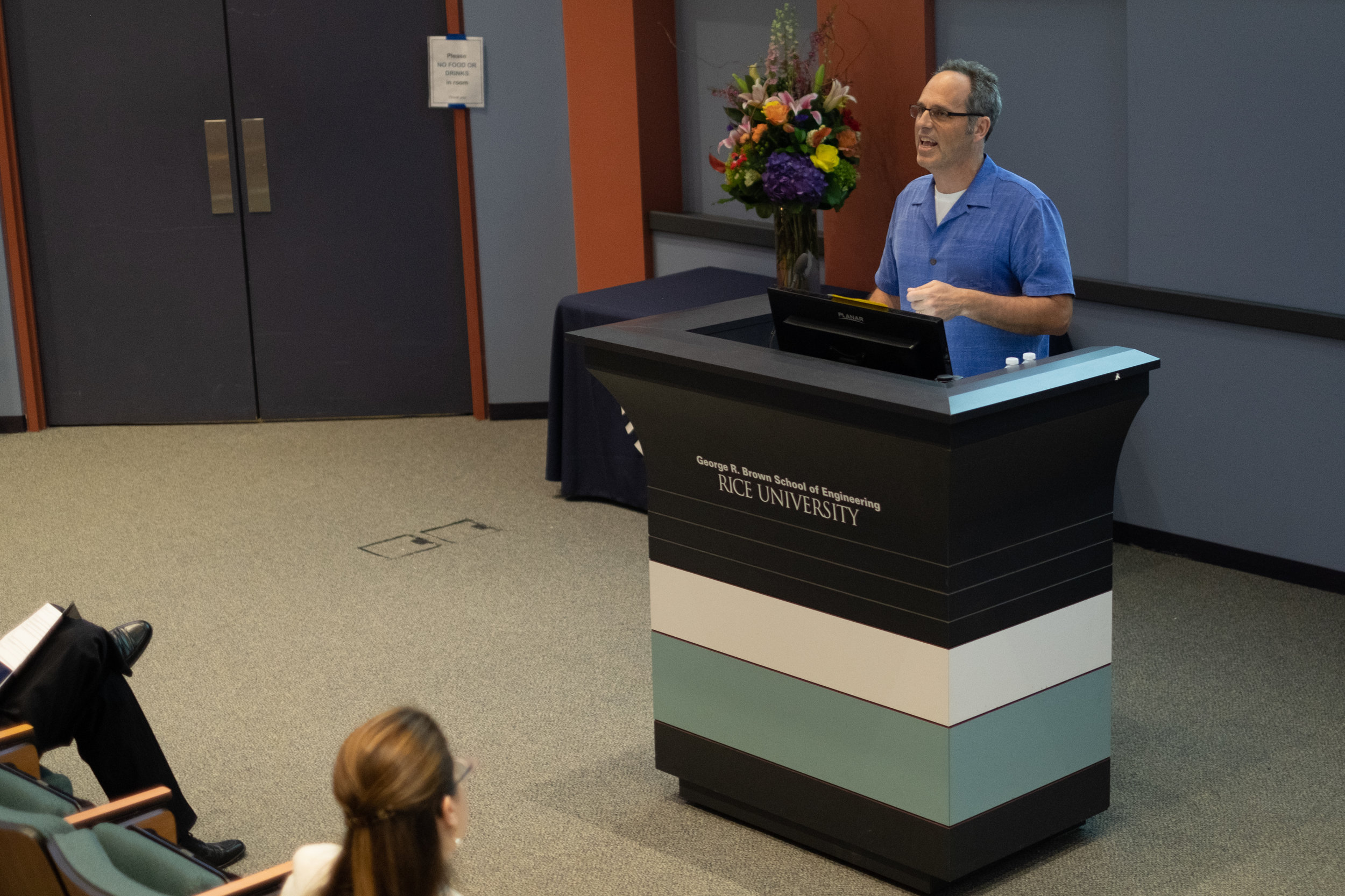 Jim Elliott, Professor and Department Chair of Sociology introducing Robert Werth