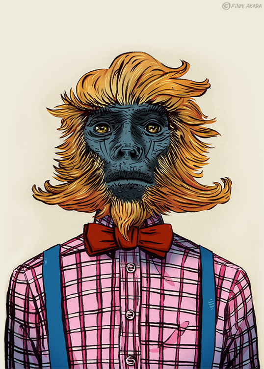 Hipster Golden Langur
