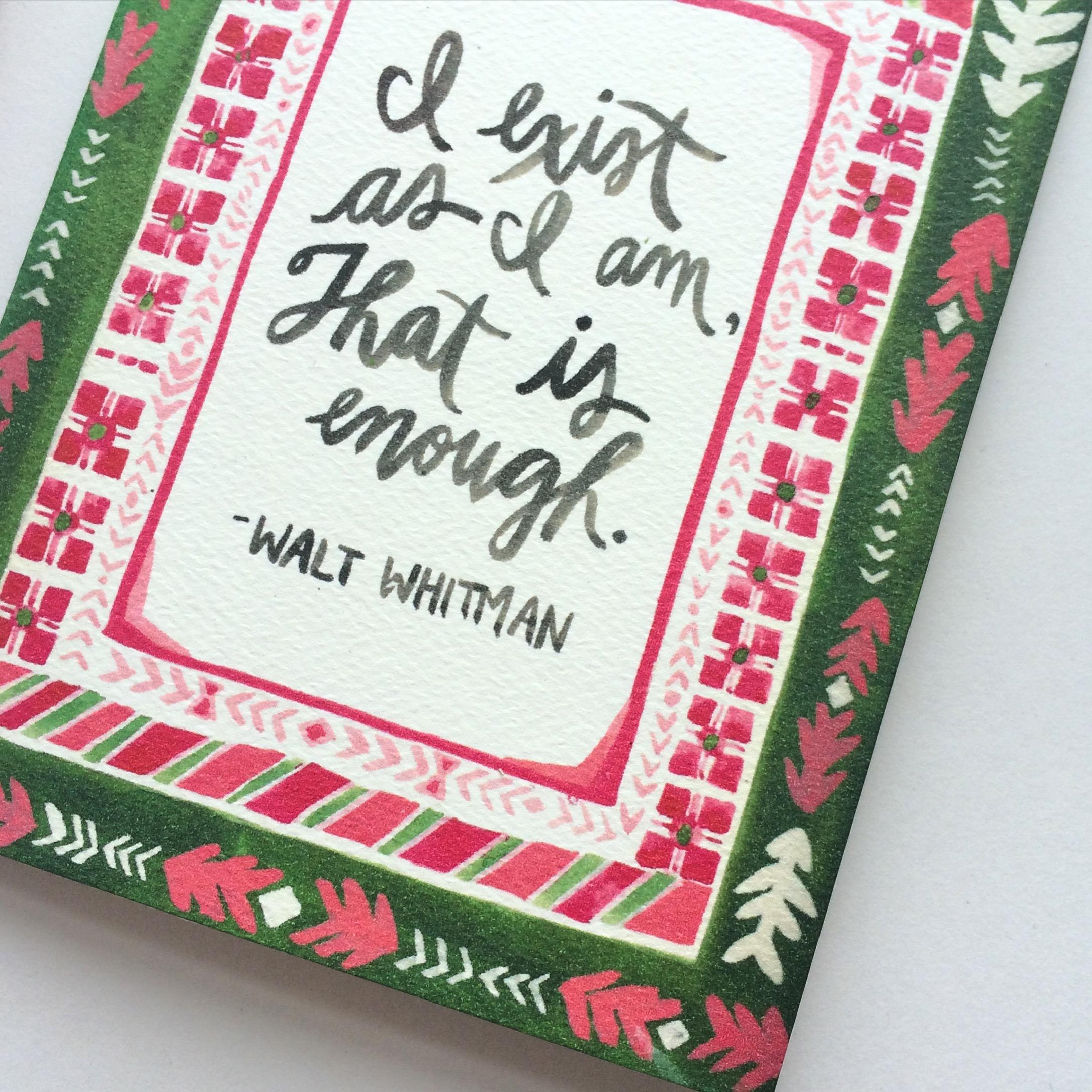 Emily Rose Ink Whitman quotation