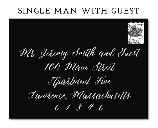 IF YOU KNOW THE FULL NAME OF THE GUEST, YOU SHOULD INCLUDE IT ON THE LINE BELOW YOUR INVITEE'S NAME
