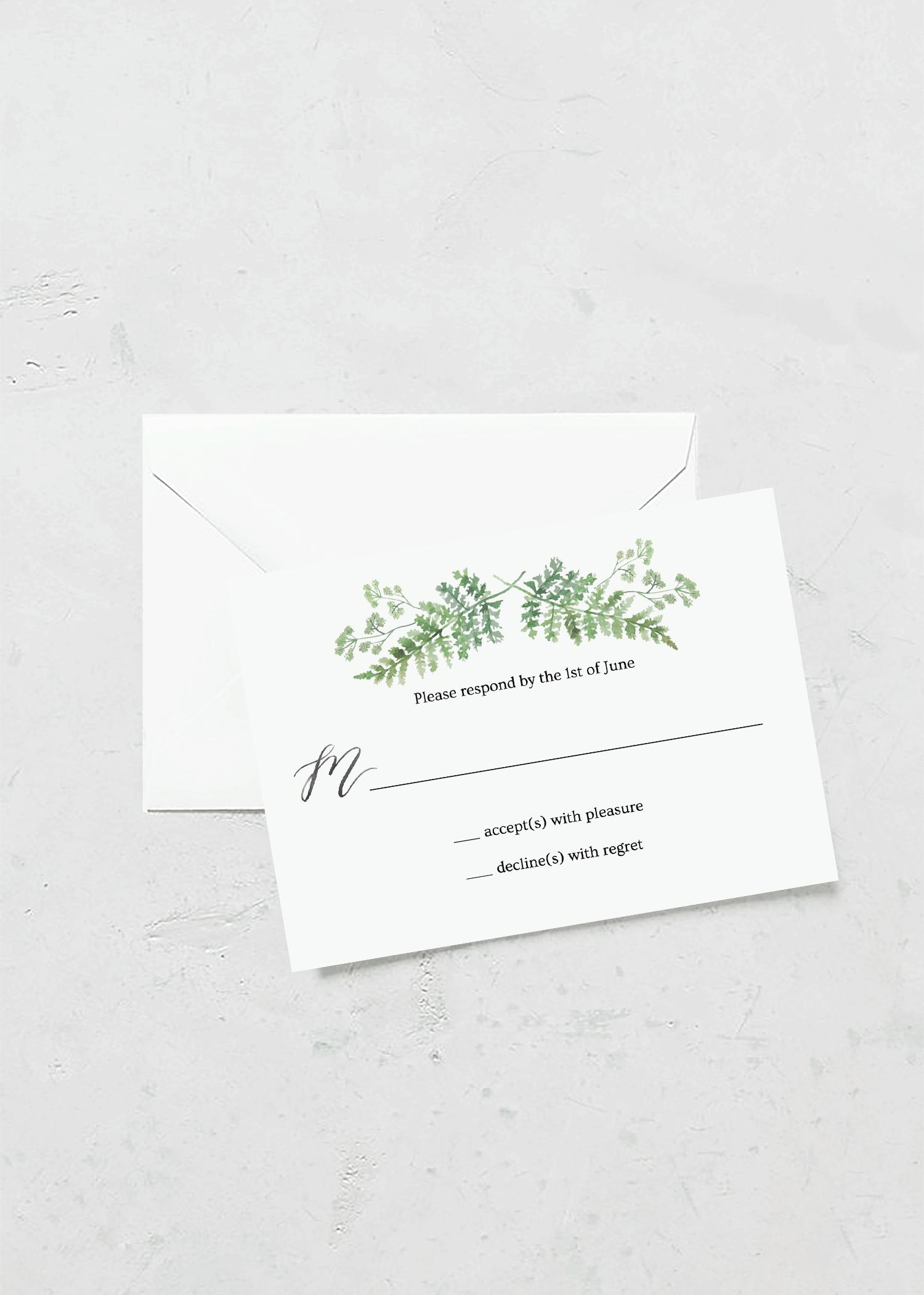 rsvp cards greenhouse