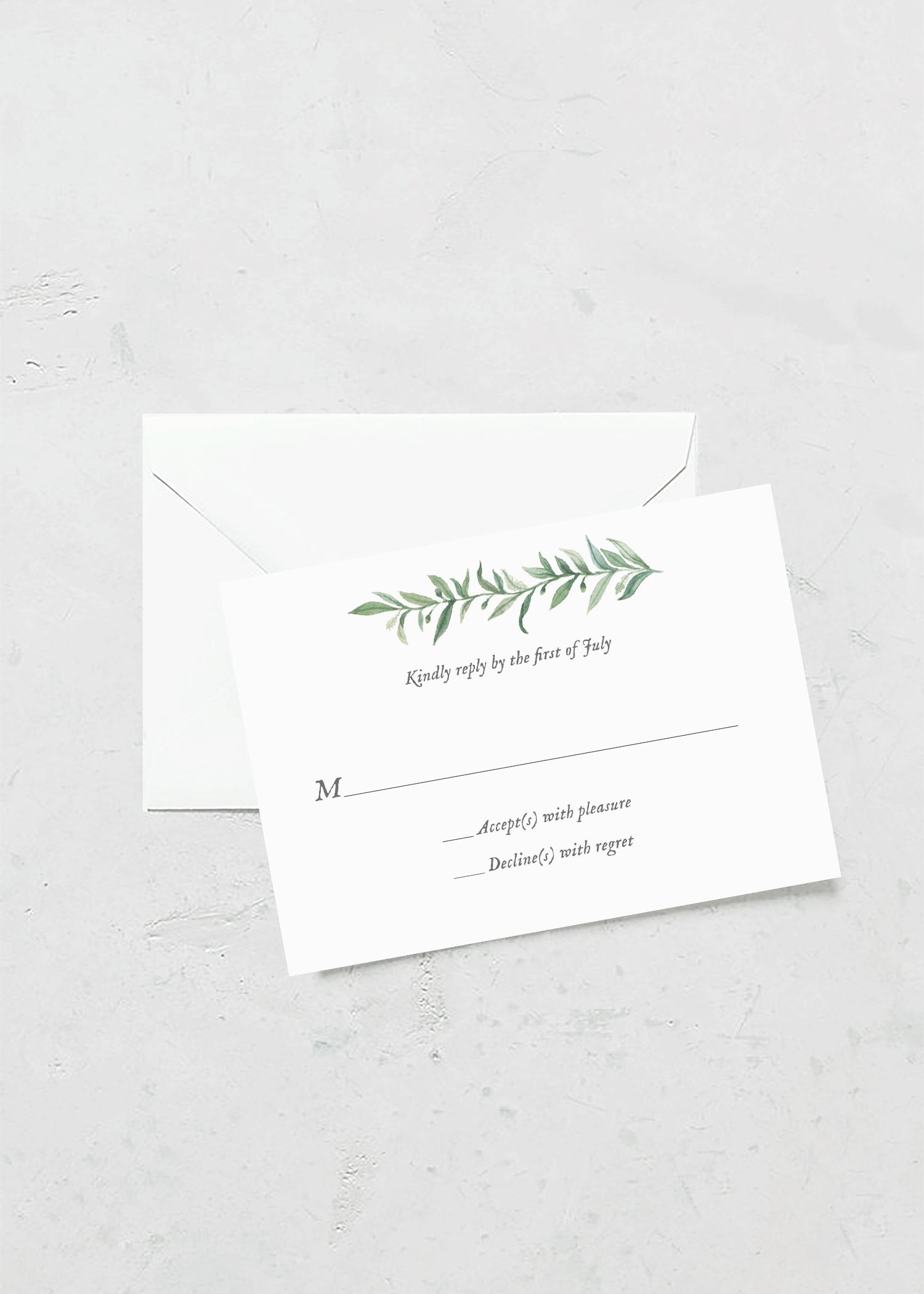 rsvp card wild olive