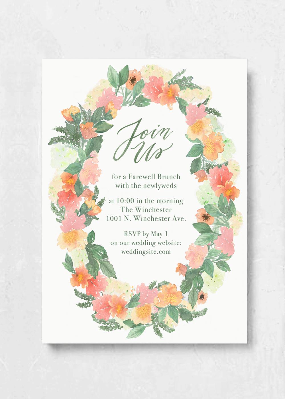 event invitation bold blossom