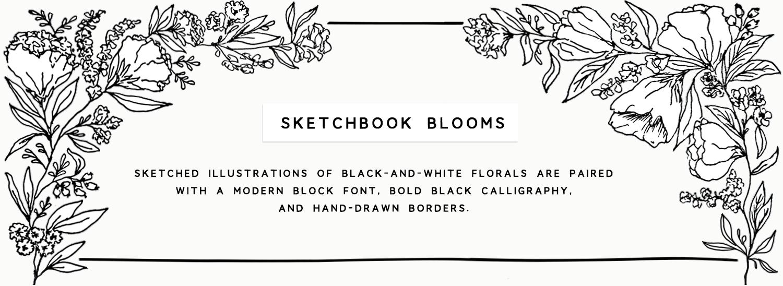 sketchbook blooms banner