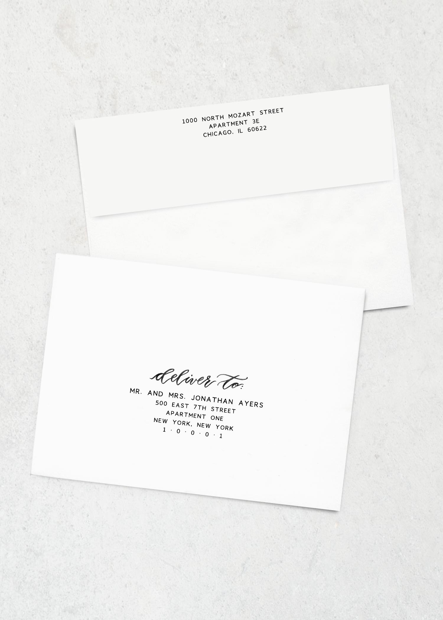 envelope printing sketchbook blooms