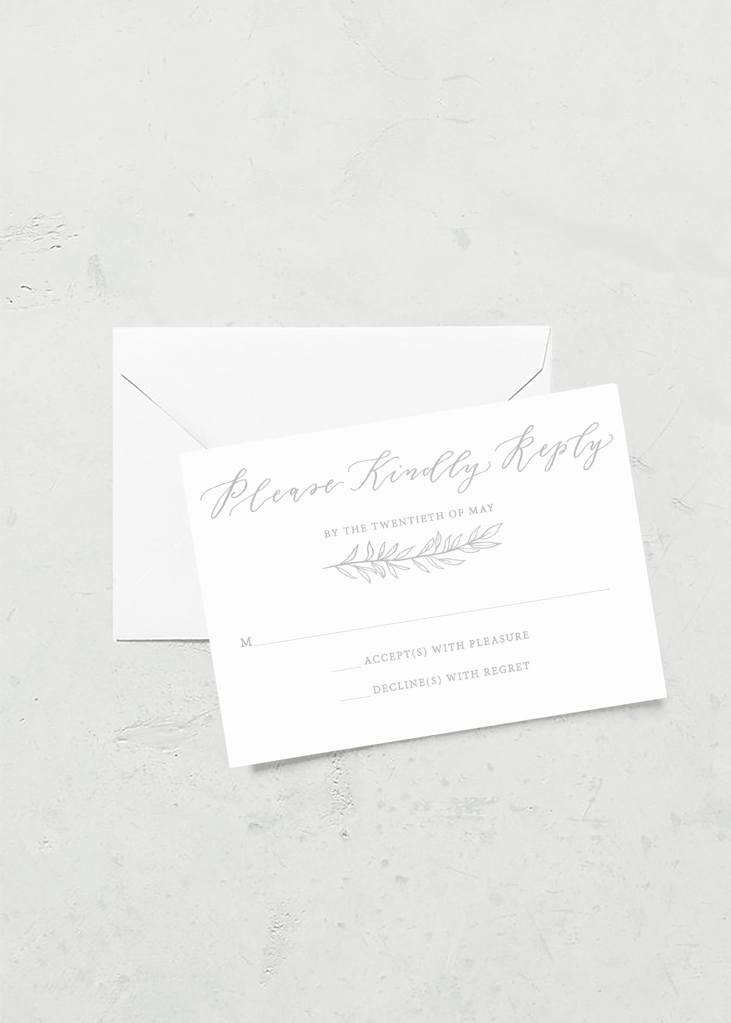 RSVP Card Organic Laurel