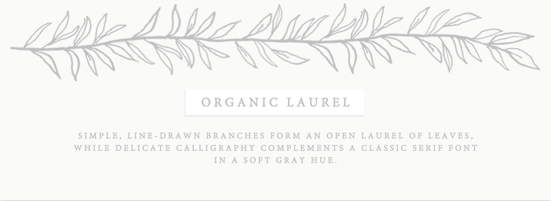Organic Laurel Wedding Invitations