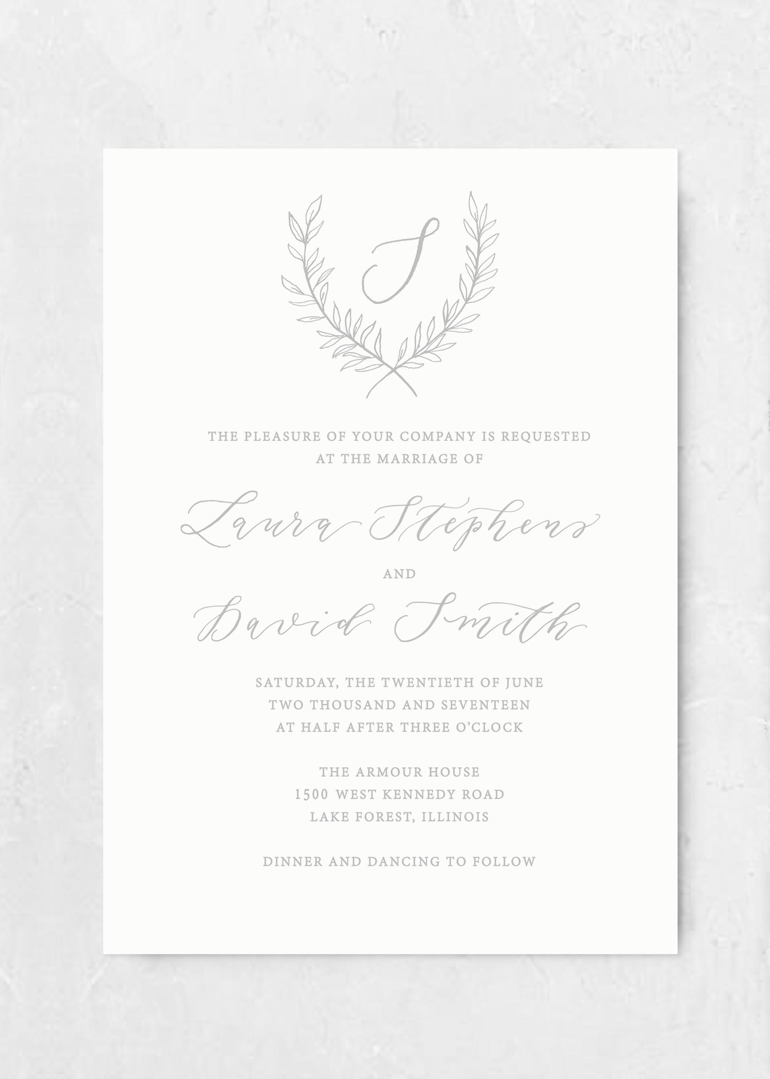 Invitation Organic Laurel