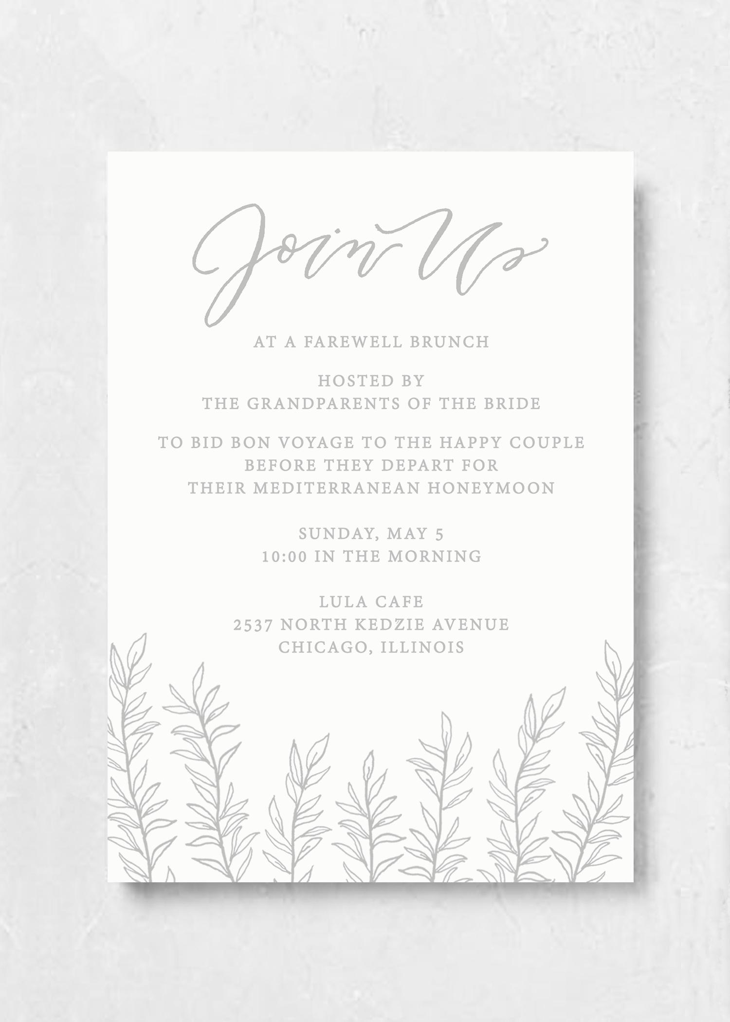 Event Invitation Organic Laurel