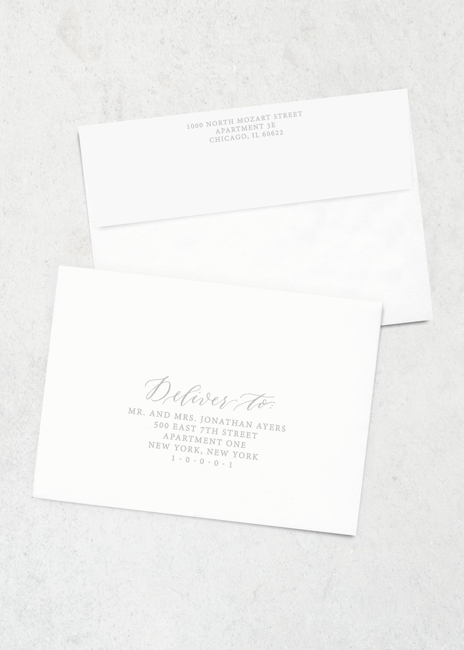 Envelope Printing Organic Laurel