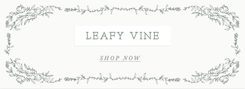 leafy vine green illustrated border banner invitation