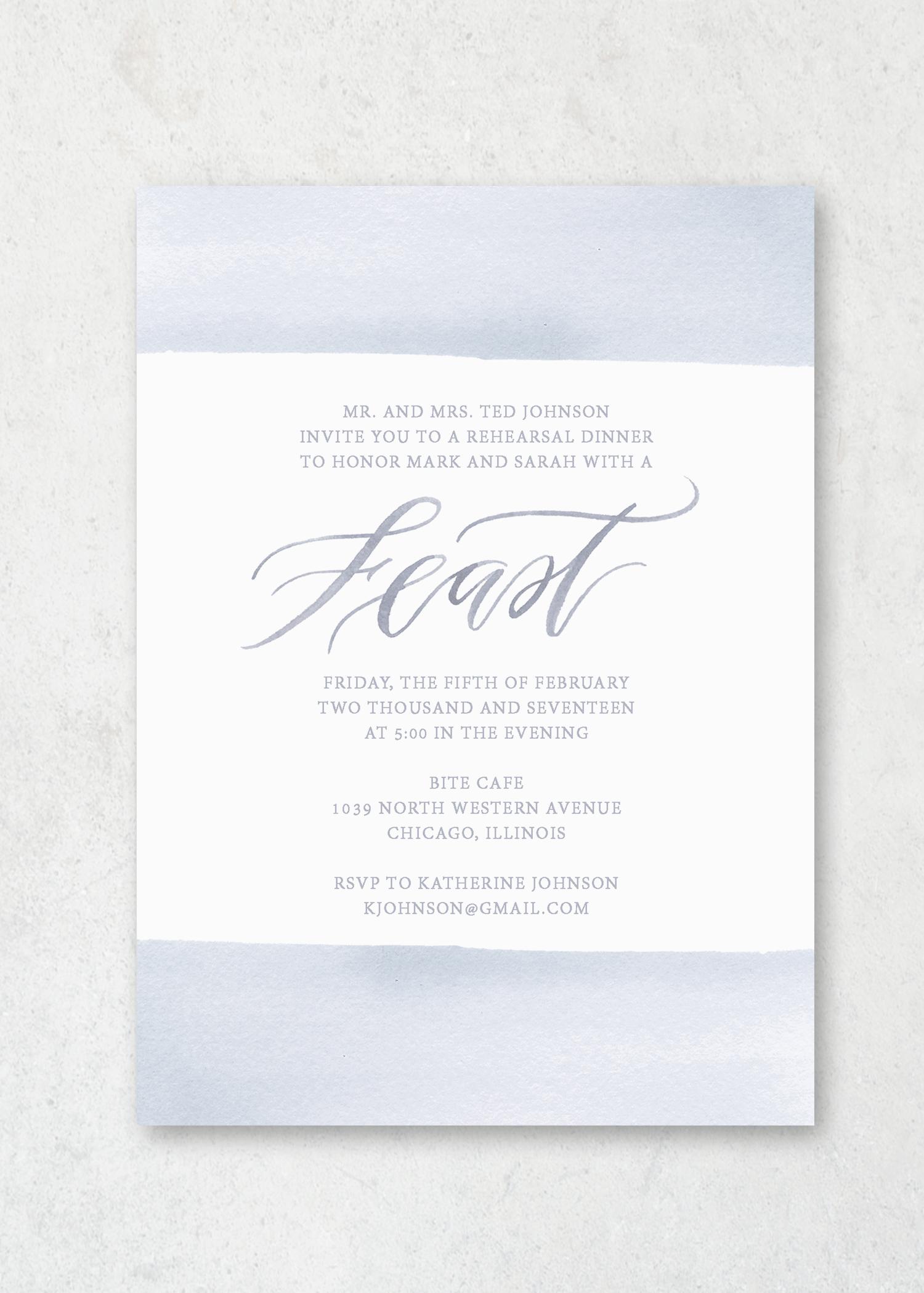Event Invitation Pastel Floral