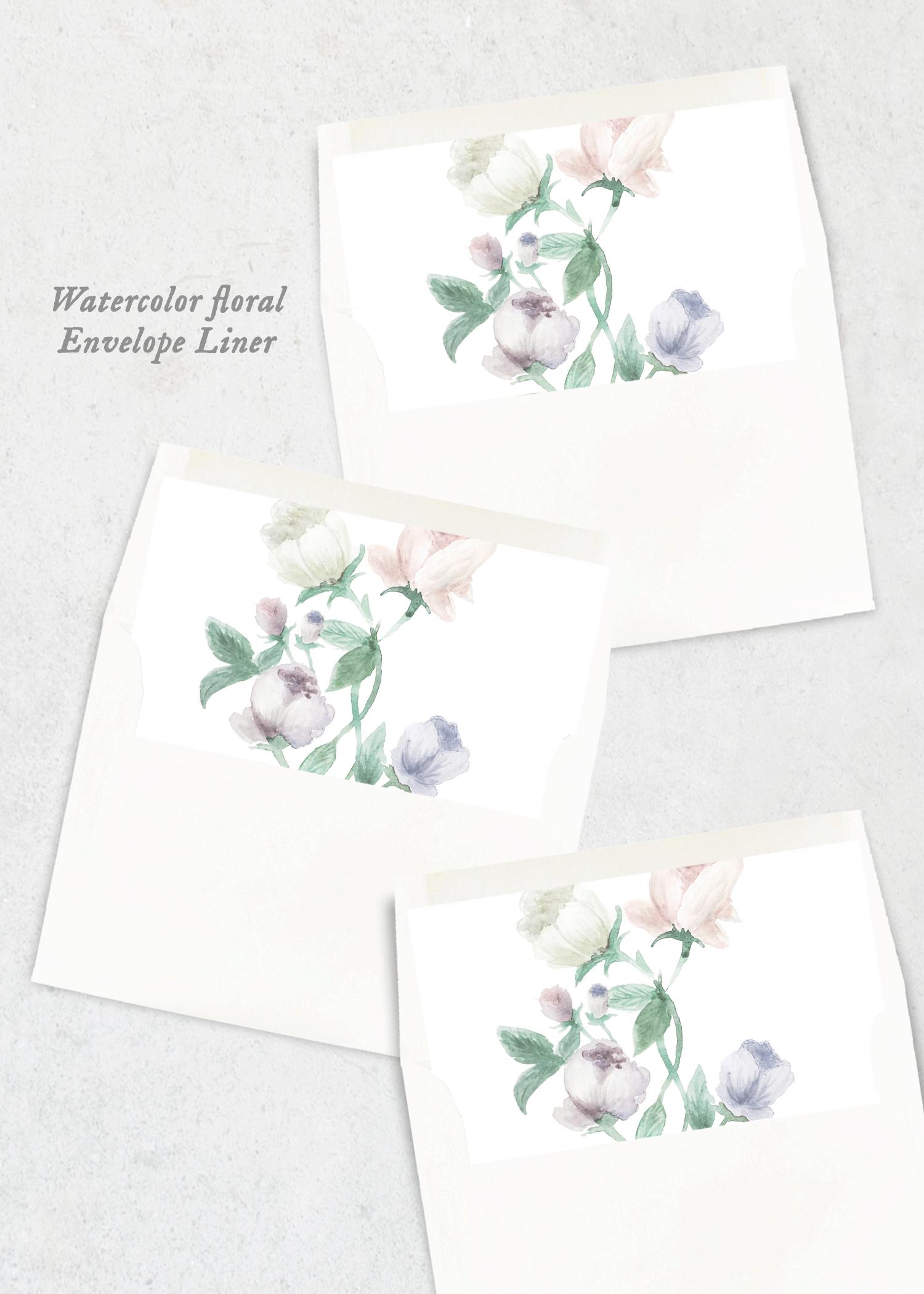 envelope liner pastel floral