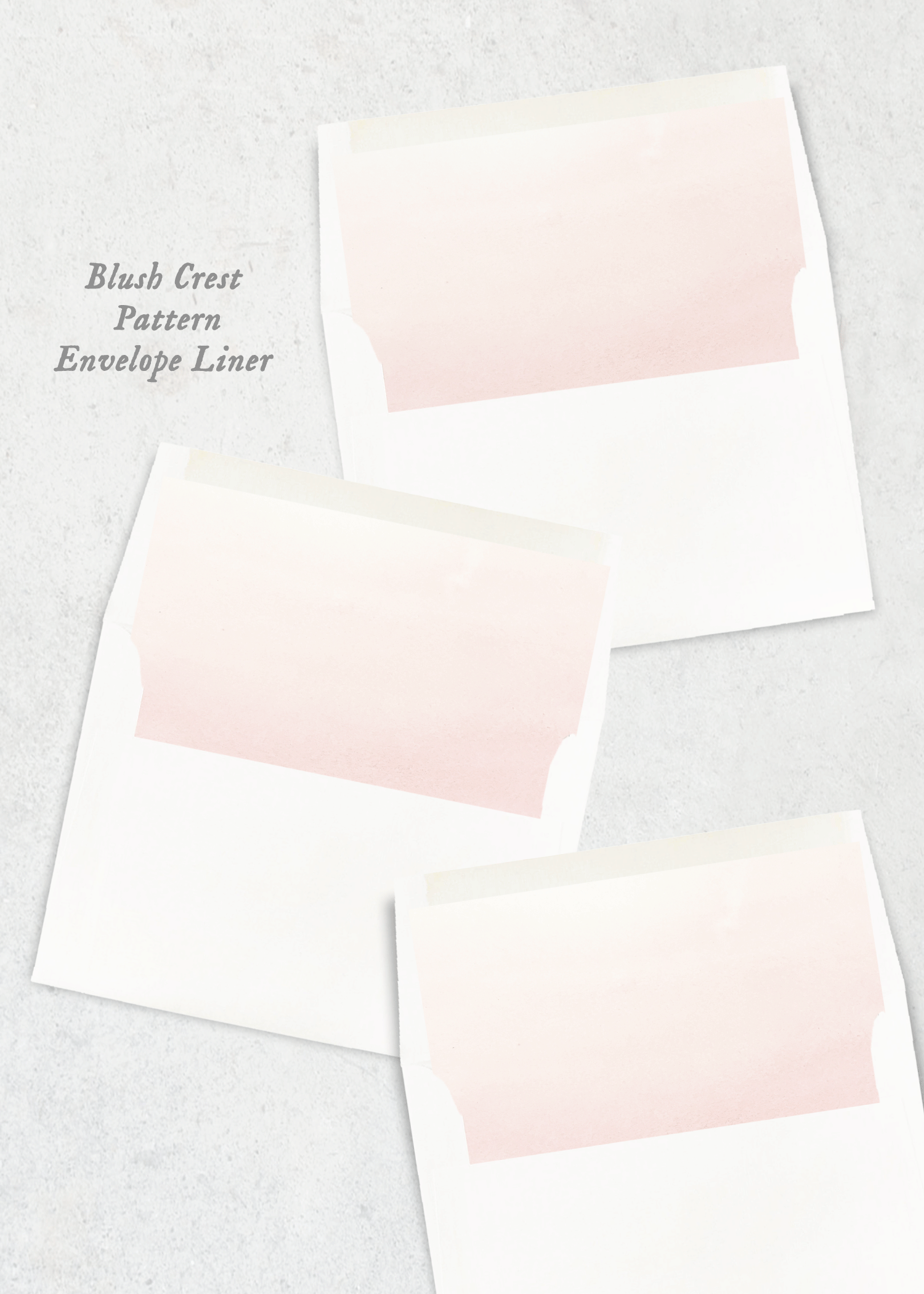 envelope liner blush crest