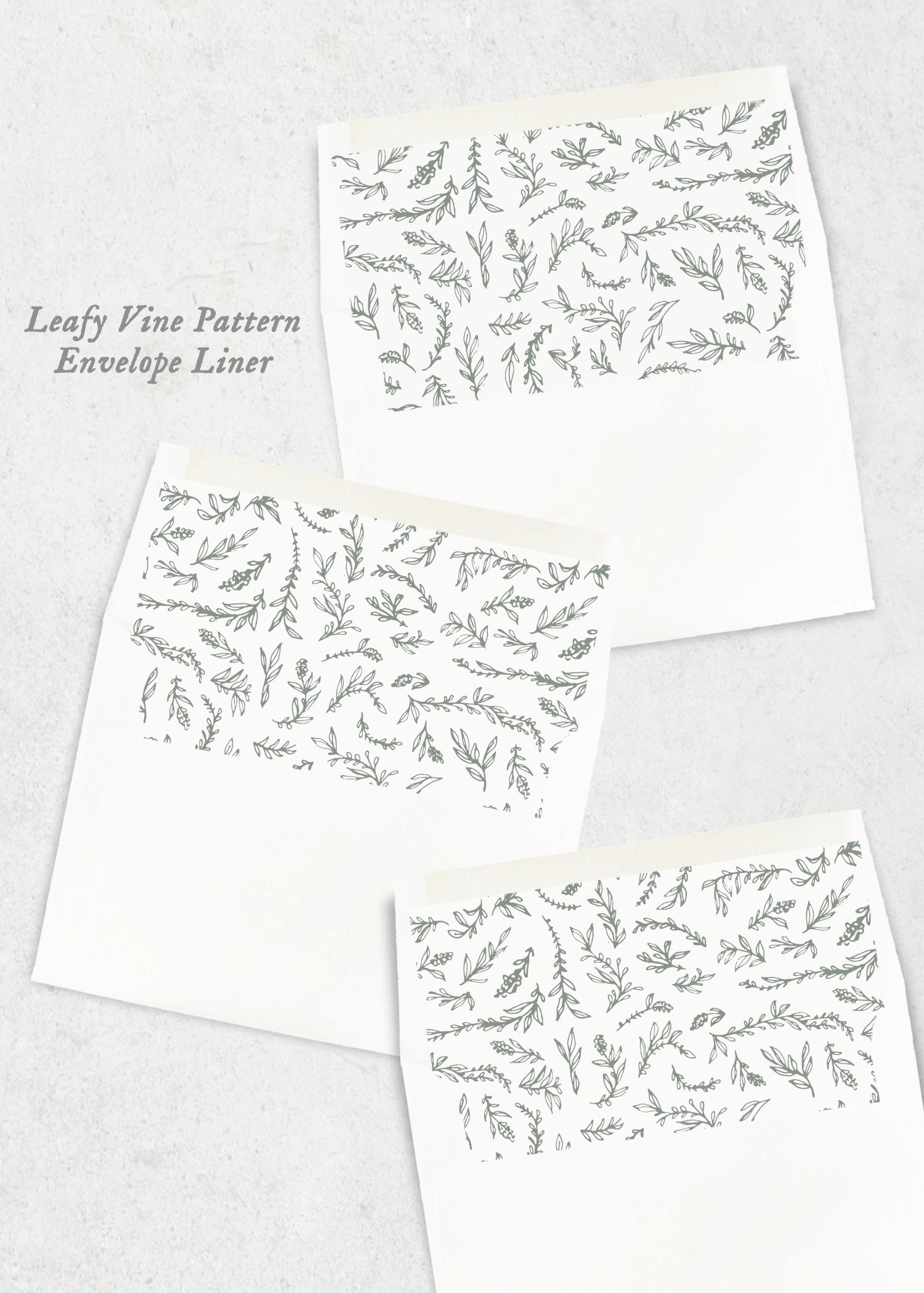 envelope liners leafy vine