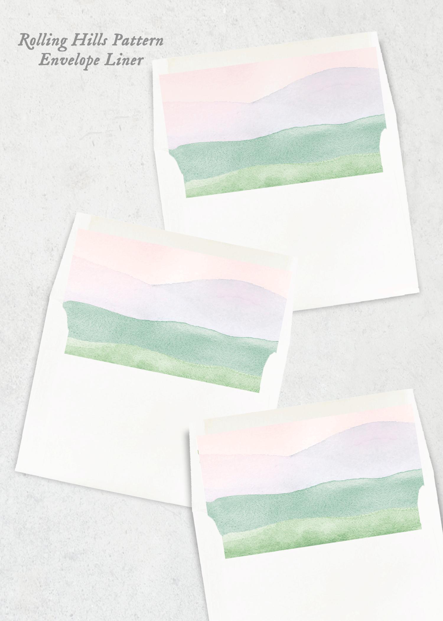 envelope liners rolling hills