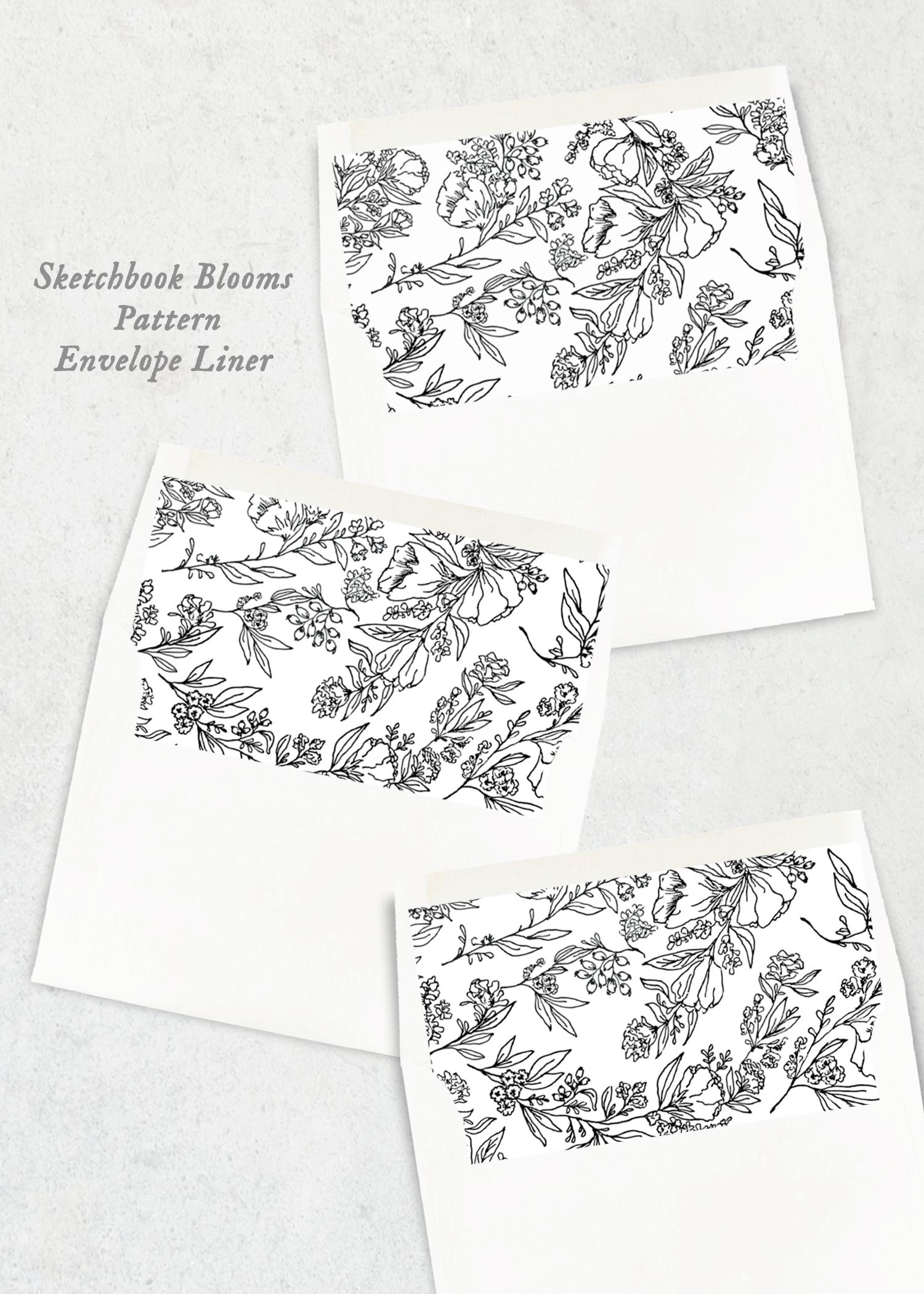 envelope liners sketchbook blooms